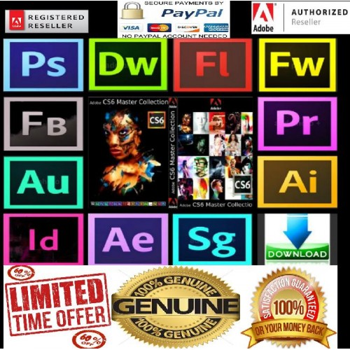 Adobe CS6 Master Collection Full Genuine (PC DOWNLOAD)